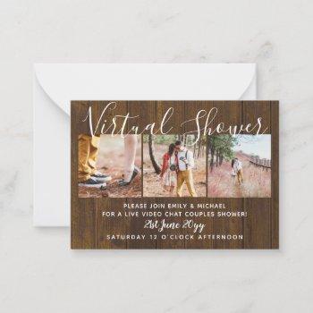 100  virtual shower photo wedding live chat budget advice card