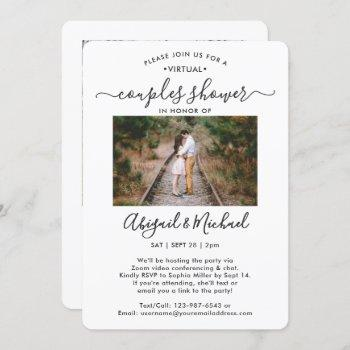 2 photo virtual couples bridal shower by mail invitation