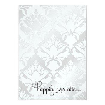 311 happily ever after bridal shower metallic invitation