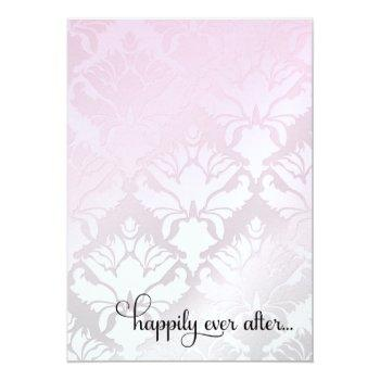 311 happily ever after bridal shower pink metallic invitation
