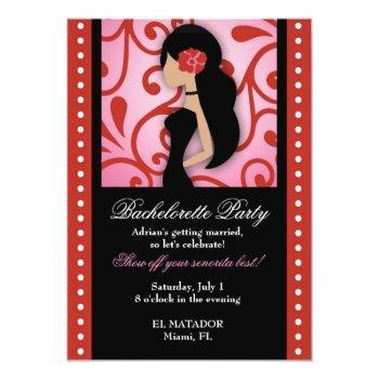 311 senorita bachelorette invitation