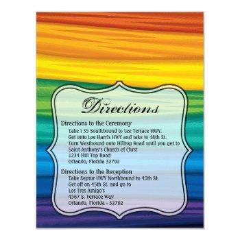 4.25x5.5 direction card lgbtq rainbow flag lesbian
