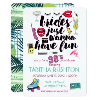 90s throwback bridal shower invitation