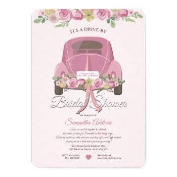 a drive by bridal shower invitation