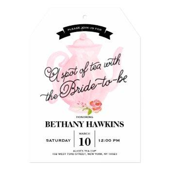 a spot of tea with the bride-to-be   bridal shower invitation