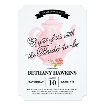 a spot of tea with the bride-to-be | bridal shower invitation
