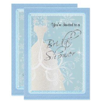 a winter snowfall bridal shower invitation