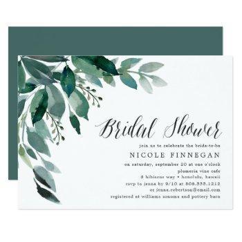 abundant foliage | bridal shower invitation