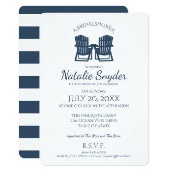 adirondack chairs bridal shower invitation
