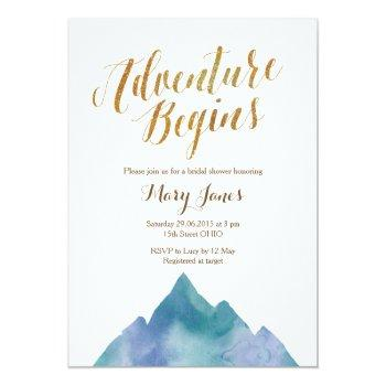 adventure begins bridal shower invitation