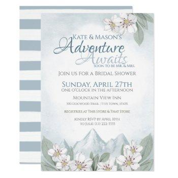 adventure mountain laurel bridal shower invitation