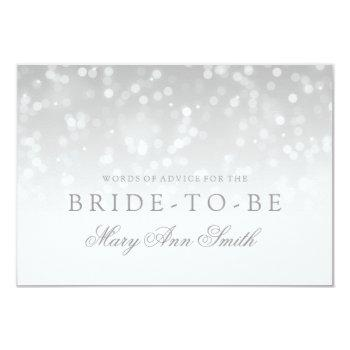 advice bridal shower silver bokeh sparkle lights invitation