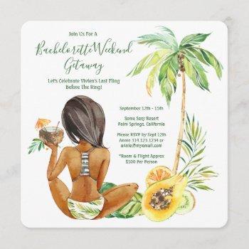 african american bride bachelorette beach weekend invitation