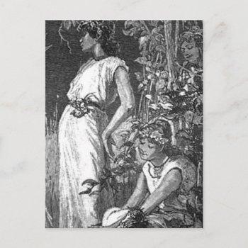 african american fairies (bridal shower) invitation postcard