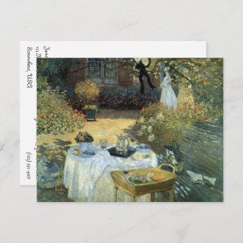 afteroon tea party impressionism art bridal shower invitation