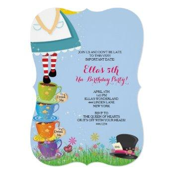 alice in wonderland birthday party invitations
