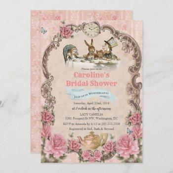 alice in wonderland bridal shower invitation
