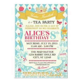 alice in wonderland tea party invitation