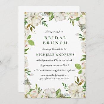 antique garden  chic wedding bridal brunch invitation