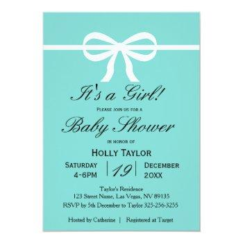 aqua baby shower invitation