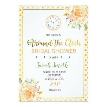 around the clock bridal shower card