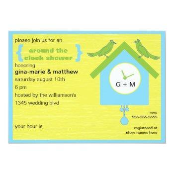 around the clock shower invitation