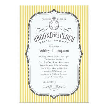 around the clock shower invitations