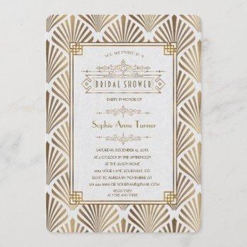 art deco black gatsby 1920s bridal shower invitation