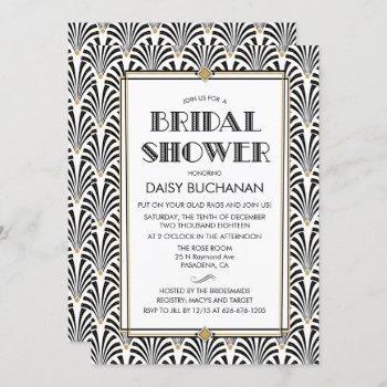 art deco gatsby bridal shower invitation