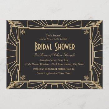 art deco style bridal shower invitation