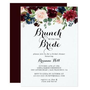 autumn calligraphy brunch with the bride shower invitation