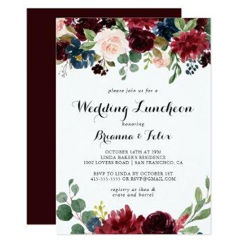autumn calligraphy wedding luncheon bridal shower invitation