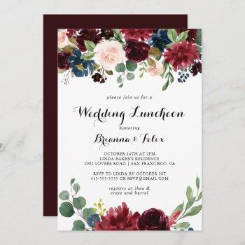 autumn calligraphy wedding luncheon bridal shower invitation