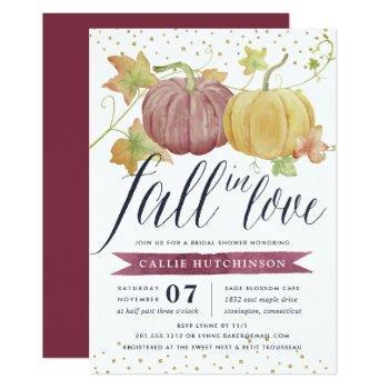 autumn pumpkin | fall bridal shower invitation