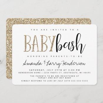 baby bash, couples baby shower invitation