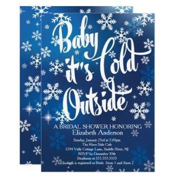 baby it's cold outside bridal shower invitation