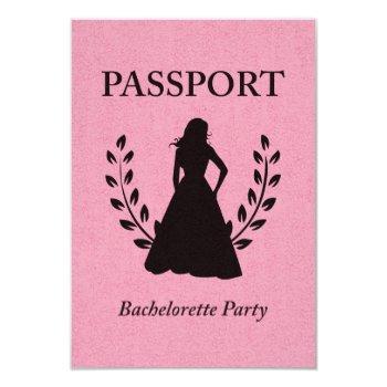 bachelorette party passport invitation