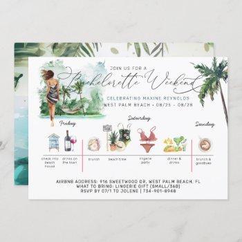 bachelorette weekend itinerary | palm beach invitation