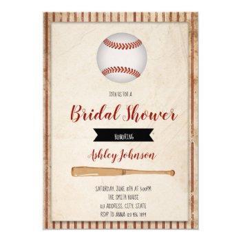 baseball bridal shower party invitation