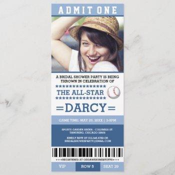 baseball bridal shower party invites