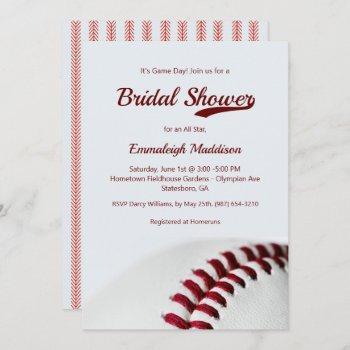 baseball theme bridal shower invitations