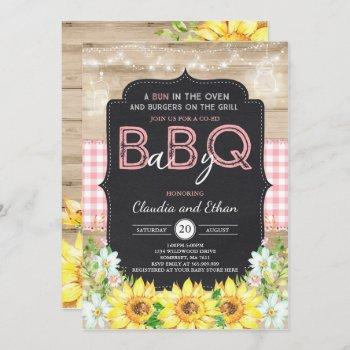 bbq baby shower invitation baby q couples shower
