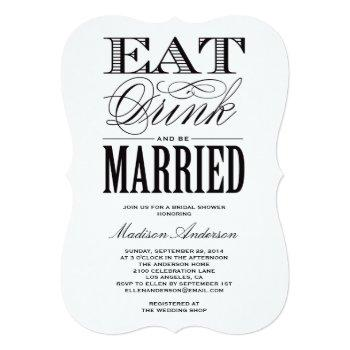 be married | bridal shower invitation