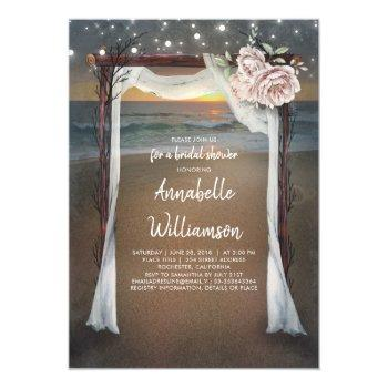 beach arch | sea sunset bridal shower invitation