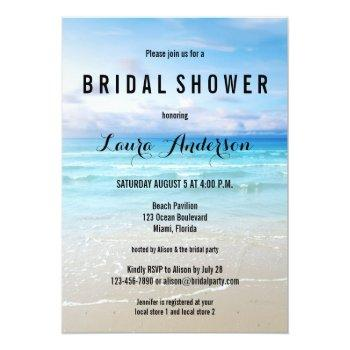 beach bridal shower invitation