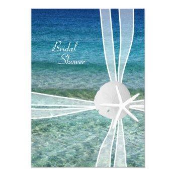 beach water starfish bridal shower invitation