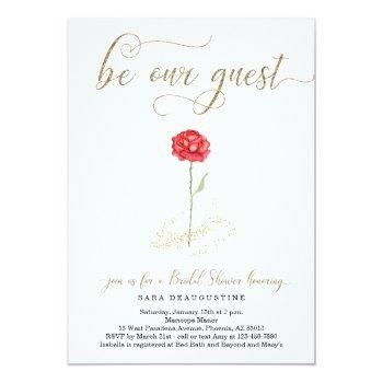 beauty & the beast bridal shower invitation
