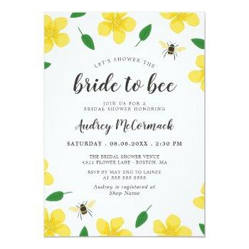 bees & buttercups shower the bride to bee invitation
