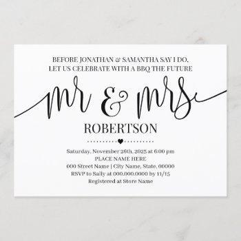 before i do mr and mrs wedding shower minimalist invitation