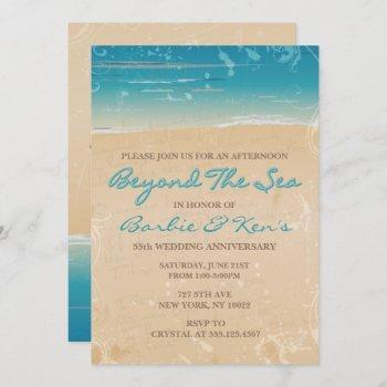 beyond the sea, beach invitations